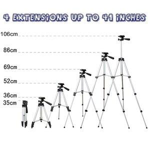 Image 3 - חצובה הר Stand סט עם טלפון מחזיק קליפ עבור Smartphone טלסקופים הדיגיטלי ללכת פרו מצלמה UY8