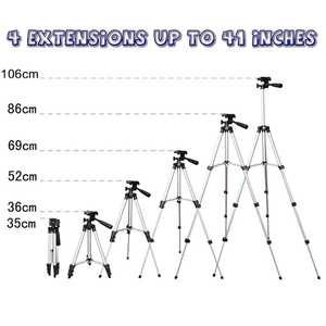 Image 3 - Tripod Mount Stand Set With Phone Holder Clip For Smartphone Telescopes Digital Go Pro Camera UY8