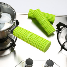 Kitchen pot handle silicone anti-scalding sleeve High temperature anti-skid Anti-scalding gloves Baking tools