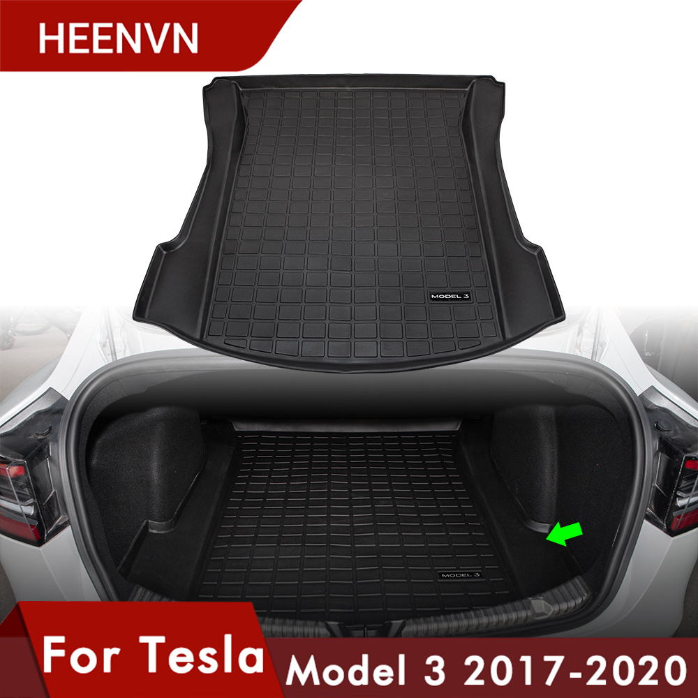 Heenvn Model3 Car Rear Trunk Storage Mat For Tesla Model 3 Trunk Mats Accessories Cargo Tray Waterproof Protective Pads 2020 New