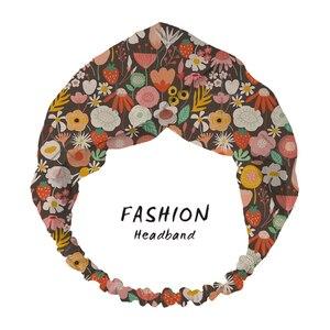 2020 accesorios para el cabello para mujeres verano Bohemian Night Midsummer floral bliss Print diademas Cross Scrunchies Bandanas diadema