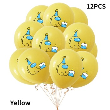 12pcs Among Us Balloons 12inch latex balloon Happy Birthday Party Christmas Decoration kids Ornaments All Game Toys 2021 image