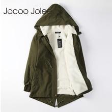 Jocoo Jolee Women Parkas Winter Coats Hooded Thick Cotton Wa