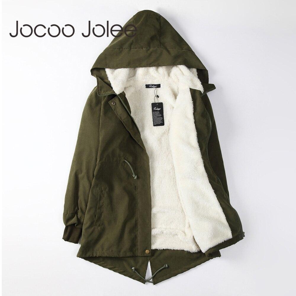 Jocoo Jolee женские парки зимние пальто с капюшоном толстые хлопковые теплые женские куртки модные средней длины ватные пальто Верхняя одежда плюс размер 5XL