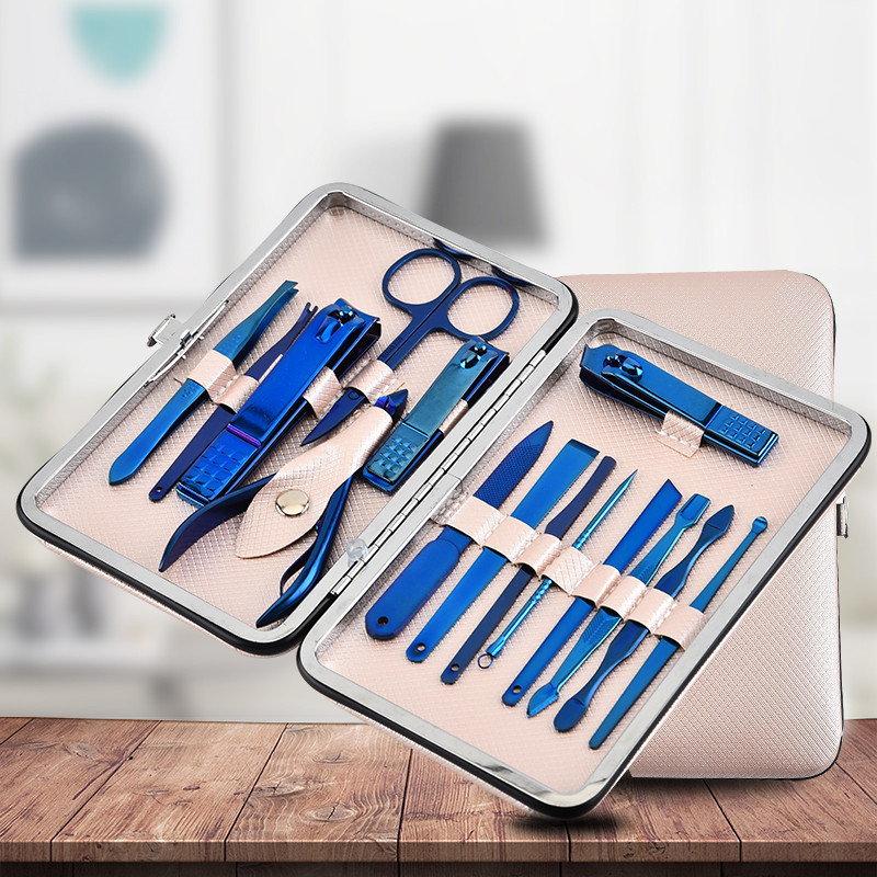 NEWEST Color Titanium Nail Clipper Set Professional Stainless Steel Nail Scissors Clipper Tweezer Tools Manicure Foot Hand Care