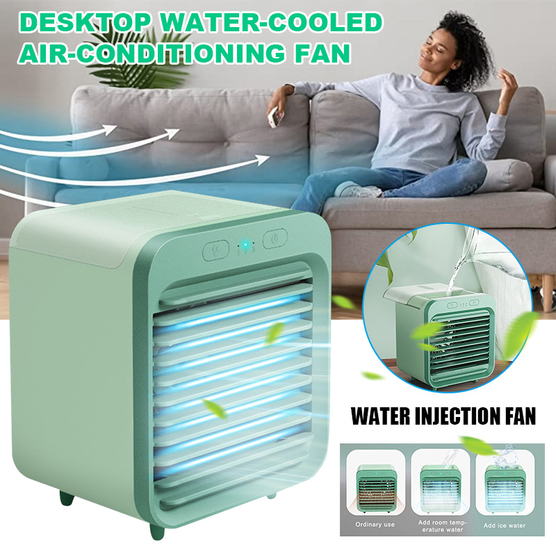 Newly Rechargeable Water-cooled Air Conditioner Desktop Cooling Fan Air Cooler For Summer Home TE889