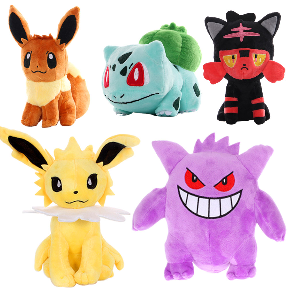 20cm   Jiggly puff Charmander Bulbasaur Squirtle EEVEE Pokemones plush toys For Children Activity gift Soft Doll Anime