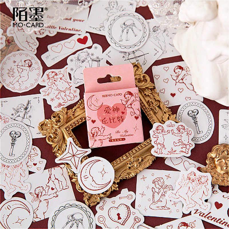 1Pcs Kawaii קופידון אלוהים של אהבה מכתבים מדבקת דבק נייר פתית יפה תווית מדבקת רעיונות כתיבה מכתבים