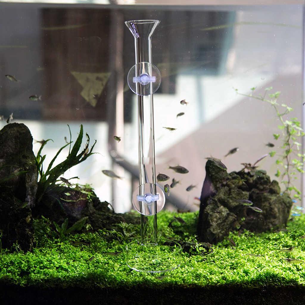 2 Pcs Aquarium ปฏิบัติกุ้งให้อาหารจานแก้วดูดถังปลา SUPPLY
