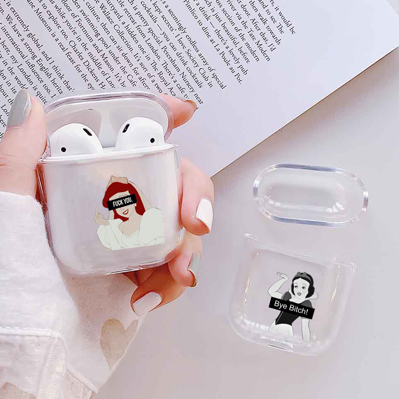 Earphone Case For Apple Airpods 2/1 Cover Cute Cartoon Snow White Soft Silicone Case Cover For Airpod Earphone Capa For Air Pods