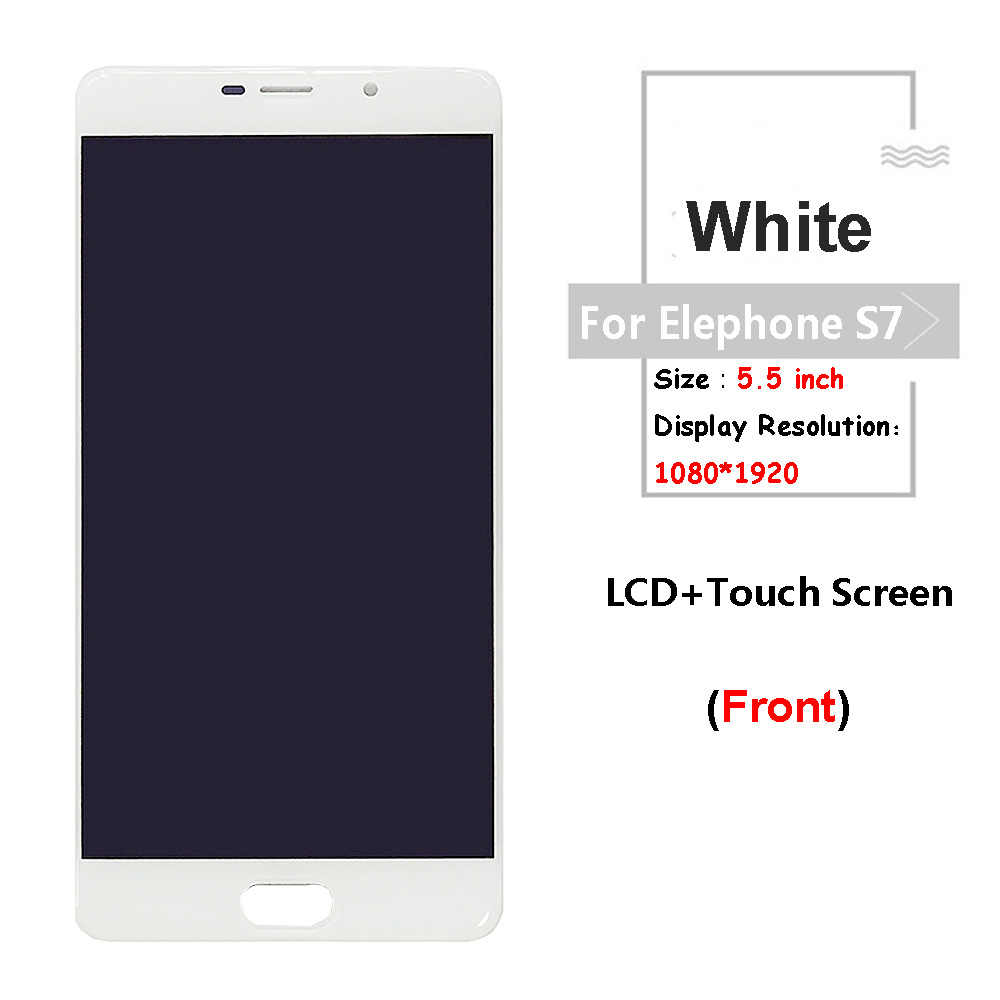 Color : Blue LCD Screen Mobile Phone and Digitizer Full Assembly for Elephone S7 Black