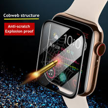 Vidro macio para apple assistir banda apple assistir 5 4 3 44mm 40mm 42mm/38mm iwatch protetor de tela capa apple assistir acessórios