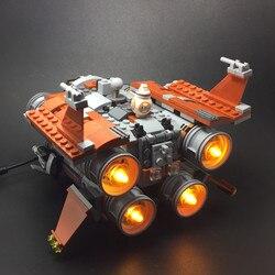 Zestaw oświetlenia led (tylko zestaw oświetleniowy w zestawie) do LEGO 75178 i 05111 Jakku Quadjumper (projektant bloków nie wchodzi w skład zestawu) w Oświetlenie nocne od Lampy i oświetlenie na