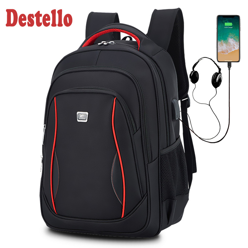 Waterproof Solid Large Backpack Men Laptop Bags Black Backpack Man Travel Backpack Teenager Bookbag Oxford Backpack