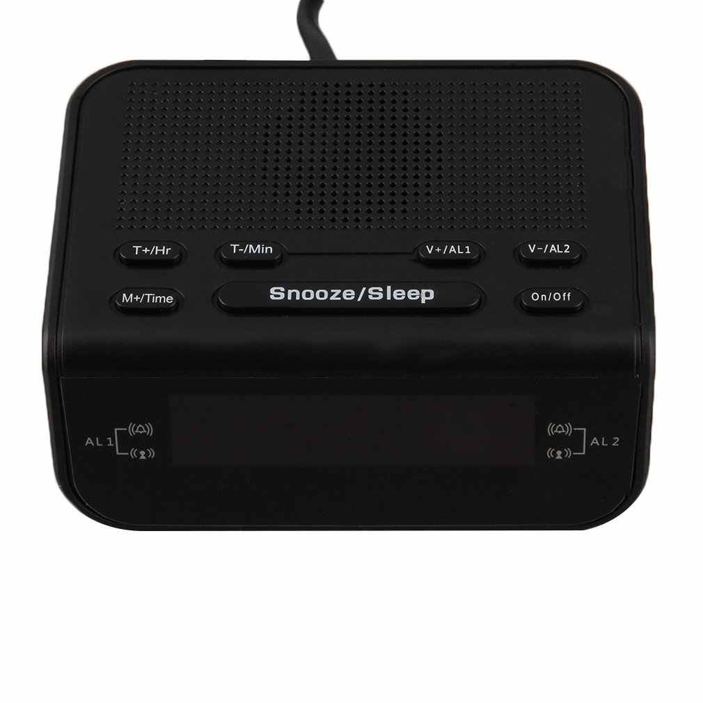 ¡Superventas! Radio Digital FM Despertador con alarma Dual, temporizador de sueño, pantalla LED roja, hora de 220V EU