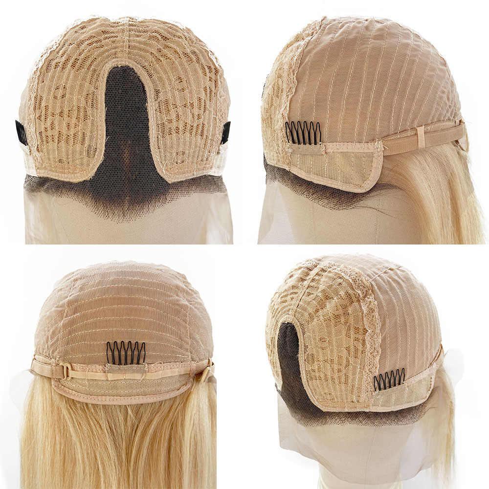 Highlight Kurzen Ombre BoB Spitze Vorne Perücke Blonde Balayage Haar Extensions Günstige Verschluss Perücke Brasilianische Menschliches Haar Für Schwarze Frauen