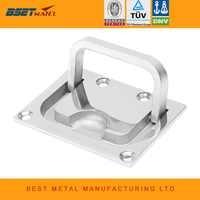 stainless steel 316 Flush Lift Ring Hatch Pull Handle Locker Cabinet boat marine hardware