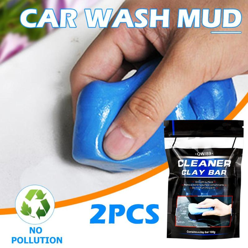 1pc/2pcs 100g Car Wash Magic Mud Clean Clay Auto Vehicle Detailing Care Deep Cleaning Tools Truck Car Wash Surface Clean Clay