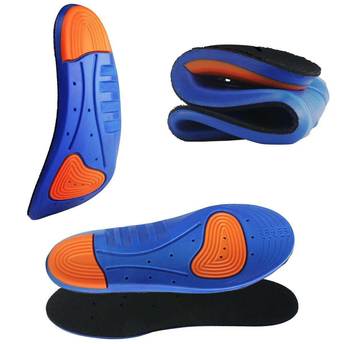 Sports Elastic Memory Silicone Gel Insoles And Shoe Inserts For Women And Men Breathable Shoes Pad