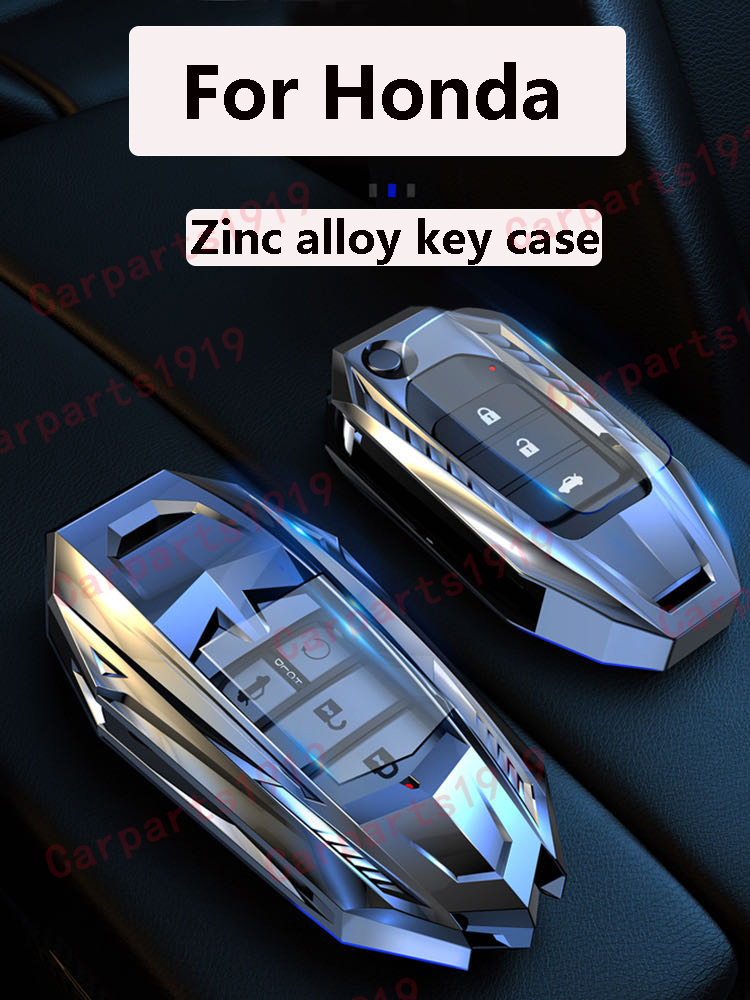 Zinc Alloy Car Key Cover Case For Honda Hrv Civic Accord CR-V Fit ODYSSEY CITY BREEZE AVANCIER CRIDER  VEZEL Protective shell