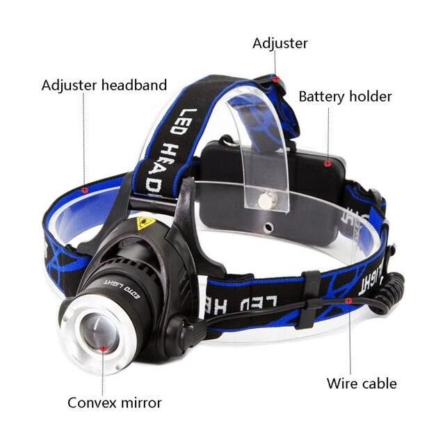 Προβολέας led t6 / l2 κεφαλής super bright