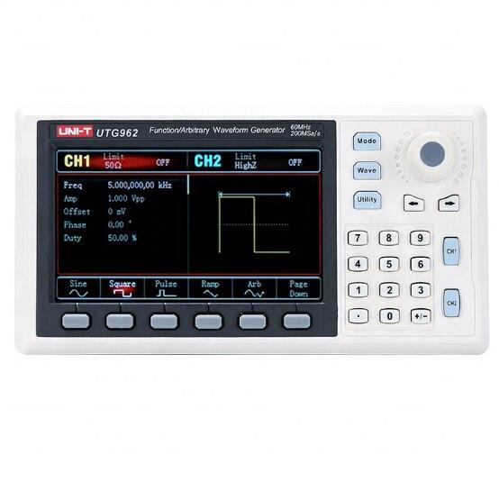 UTG932 UTG962 функция генератор сигналов произвольной формы двухканальный 200 мс/с 14 битов Частотный метр 30 МГц 60 МГц