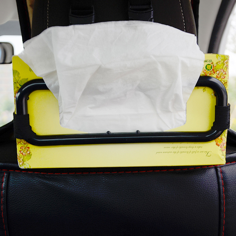1/2PCS Car Tissue Box Holder Car Sun Visor Hanging Type Tissue Cover Auto Seat Back Paper Napkin Bracket  Auto Car Accessories