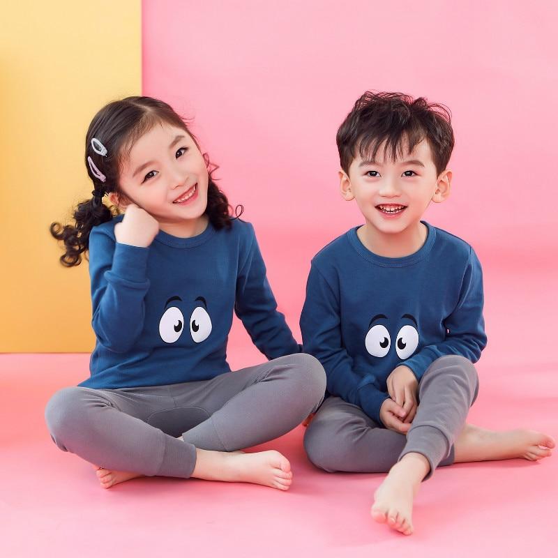 Kids Christmas Pajamas Boys Girls Night Suit Children Cartoon Sleepwear Pyjamas Kids Cotton Nightwear 2-13Y Teens Clothes Sets