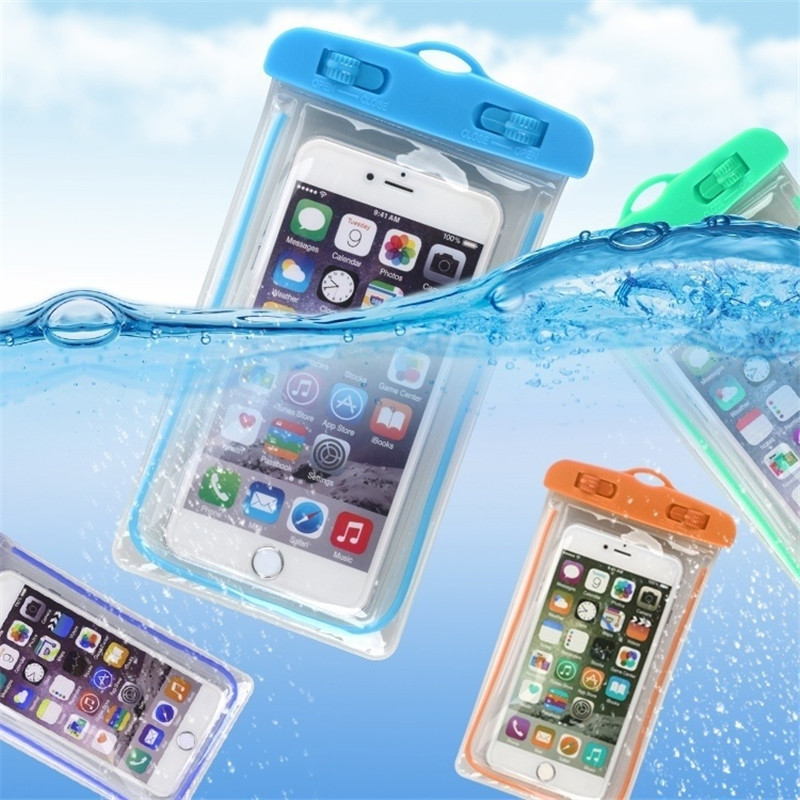 Swimming Bags Waterproof Bag With Luminous Underwater Pouch Phone Case For Iphone 6 6s 7 8 Universal All Models 3.5 Inch -6 Inch
