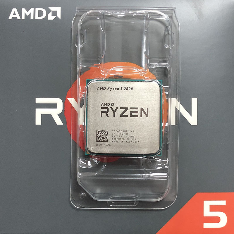 AMD Ryzen 5 2600 R5 2600 3.4GHz שש ליבות עשר-חוט Socket AM4 65W title=