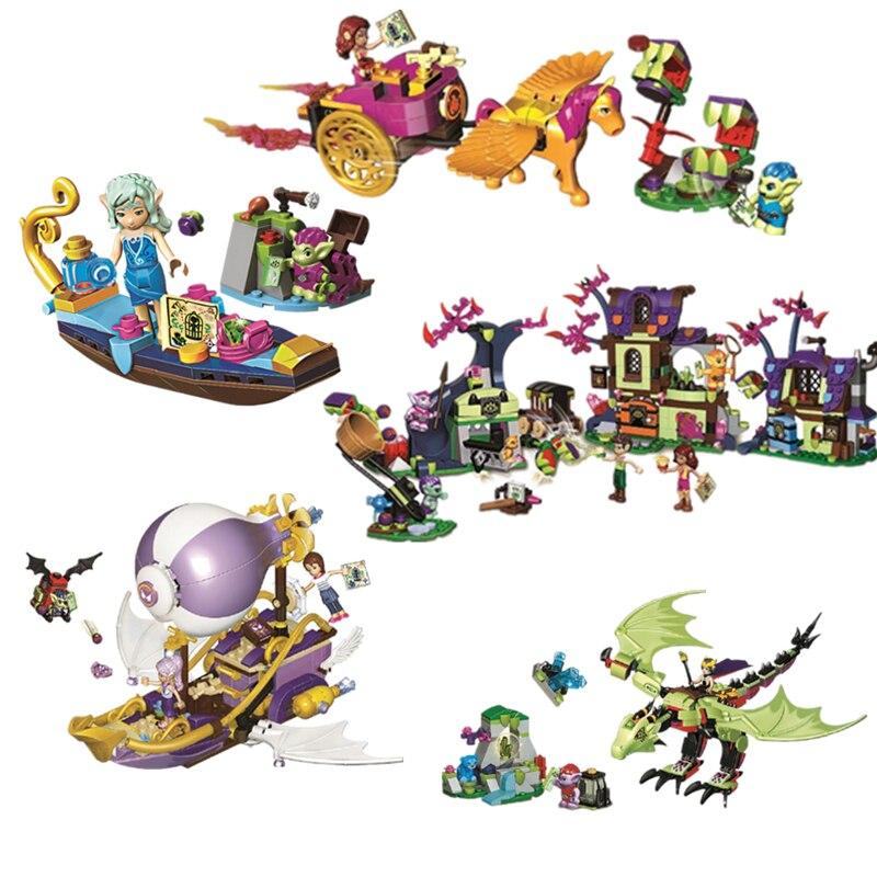 Girls Fairy Compatible Legoinglys Elves Dragon Series Fit Elves Fairy Friends Figures Building Block Bricks Toy Girls Diy Gift