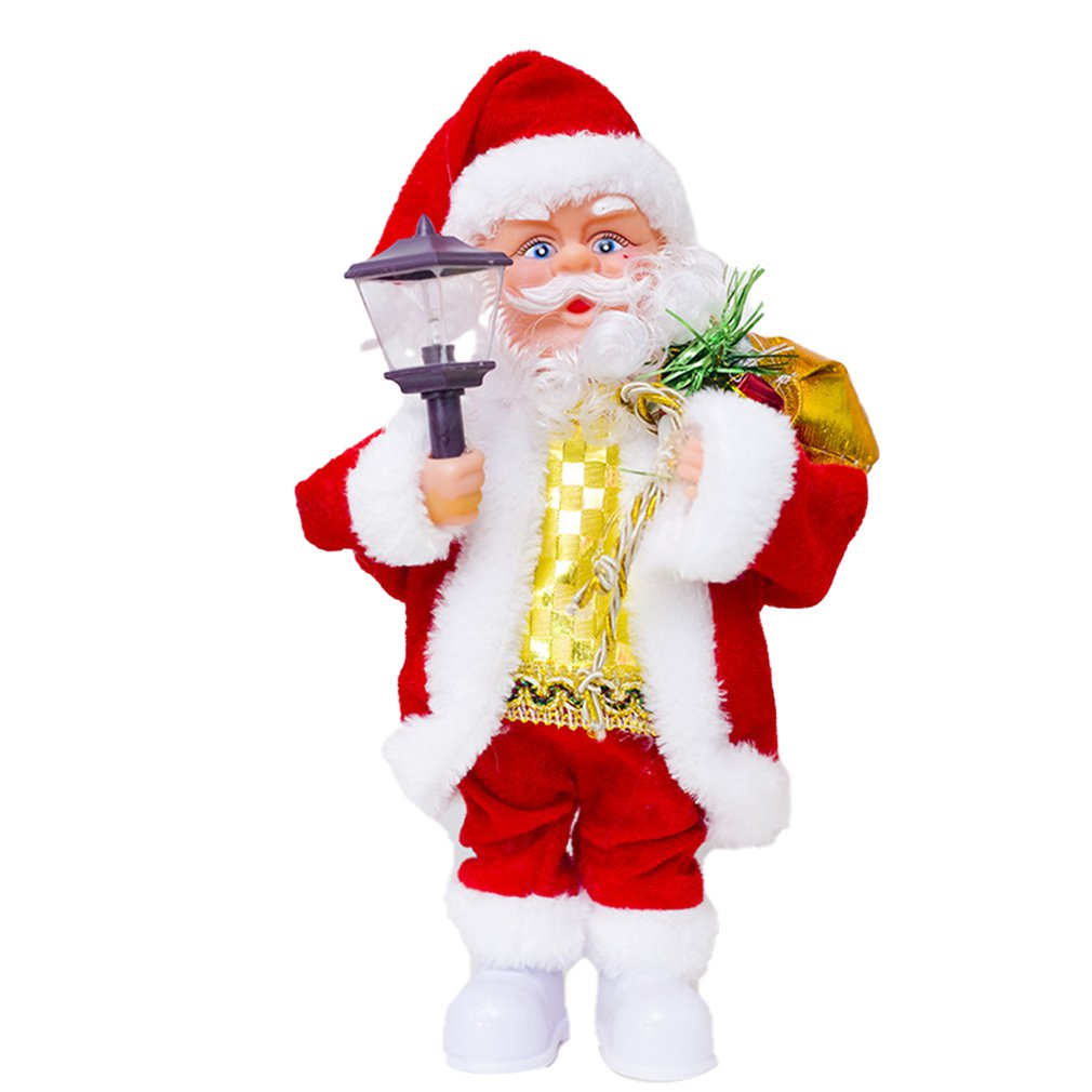 Creative Electric Santa Claus Doll Toy Christmas Singing Dancing Lighting Musical Doll Toy For Children Xmas Gift