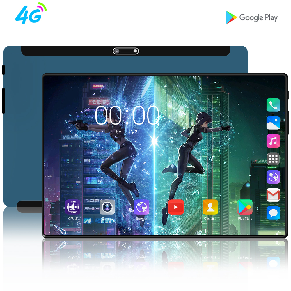 Newest 10 Inch Tablet Android 7.0 Quad Core 2GB RAM 32GB ROM 3G 4G FDD LTE Wifi Bluetooth GPS Phone Call Glass Screen Tablet Pc