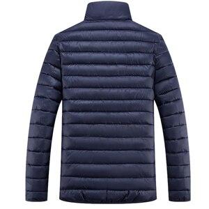 Image 3 - Chaqueta de invierno de talla grande para hombre, prendas de vestir gruesas cortas y cálidas, Softshell, Plumífero, ultraligeros, 5XL, 6XL, 7XL, 8XL