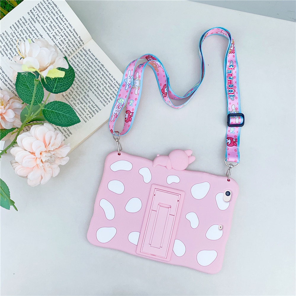 Pink with Lanyard Blue Kids Stand Soft tablet Capa Case For 2020 ipad pro 11inch Cute Rabbit Cartoon Silicon Funda