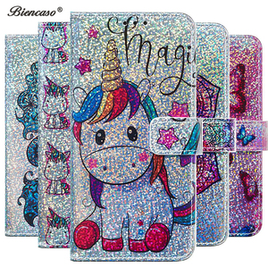 Shining Wallet Flip Cases For Huawei P40 Lite P30 Pro P Smart 2019 Mate 30 20 Lite Y6 2018 Y7 Prime Honor 10 Lite 7A 8A 9X Cover(China)
