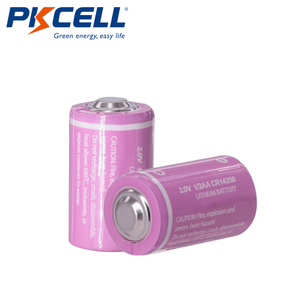 Image 2 - 5PCS PKCELL CR12450 3V lithium battery 600mah 1/2 AA 14250 For Gifts Camera Flashlight Toys Digital batteries