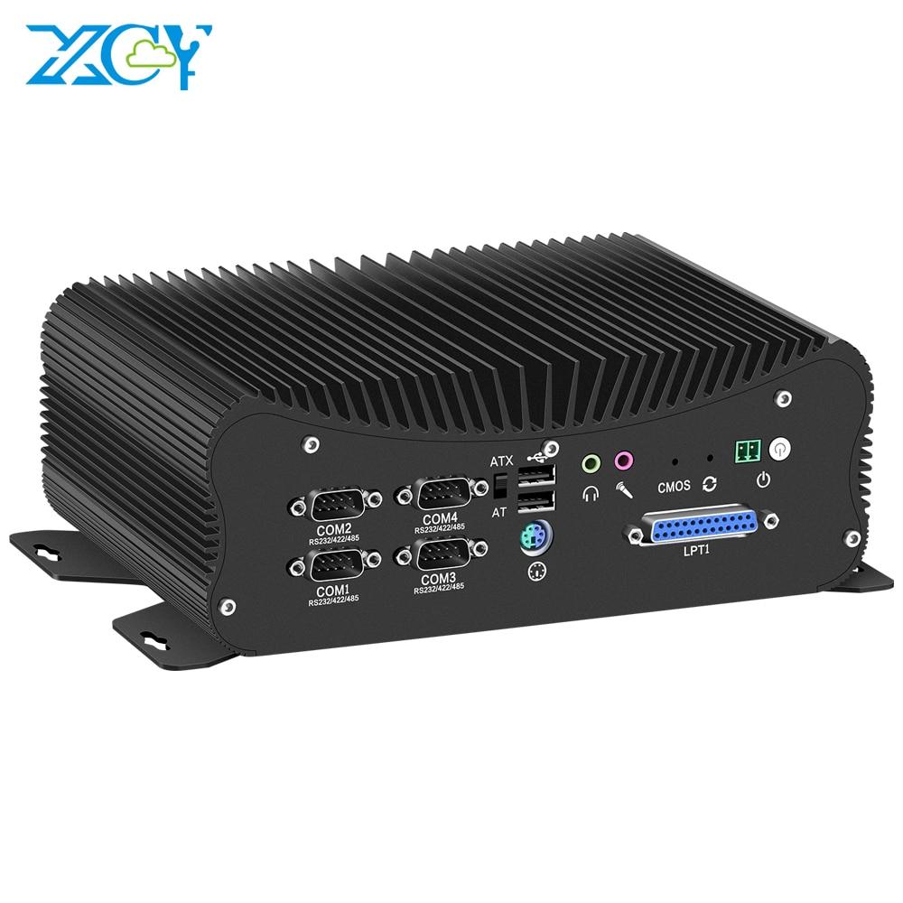 Dual DDR4 Mini PC Core I5 8250U 7267U 2*LAN LPT HDMI GPIO 6*COM 4*RS485/422 WIFI 4K UHD Windows 10 Nettop Fanless Mini Computer