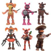 Cinco noches en Freddy juguete marioneta Bonnie Chica Foxy oso endoesqueleto sombra globo chicos muñecos de acción de modelos de Juguetes
