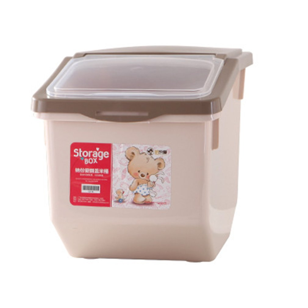 Insect - And Moth-Proofing Grain Flour Storage Box Rice Bucket Khaki Catty