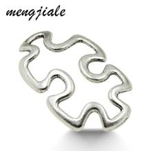MENGJIALE 30pcs/lot Vintage Metal Zinc Alloy Hollow Puzzles Charms Connectors for Bracelets Diy Handmade Jewelry Making Charms