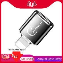 OTG قارئ بطاقة إلى كاميرا محول 3.0 ل البرق USB كابل محول الكهربائية البيانو ميدي لوحة المفاتيح آيفون 7 8 ios 13 باد