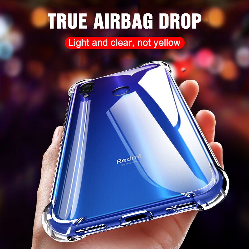 Luxury Shockproof Silicone Phone Case For Xiaomi Redmi Note 7 6 5 Pro Redmi Note 8 K20 6 Pro 7 7A Cases Transparent Back Cover