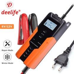 Deelife 12V Car Battery Charger for Motorcycle Trickle Charging Smart Maintainer 12 Volts 6 V Kids Automotive Pulse Desulfator