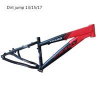 Taiwan bicycle frame  26 er 13 15 17 inch aluminum alloy high quality dirt jump bike frame