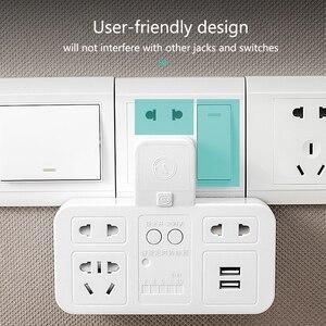 Image 5 - Smart socket timing energy saver quick charge USB 220V CN plug power strip overcurrent  protection wall extension socket