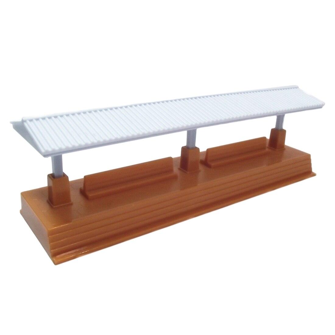1:50-1:87 HO Scale Bus Stop Train Station Railway Platform Layout Model For DIY Architectural Sand Table - Random Color
