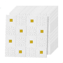 3D tijolo adesivos de parede teto Teto teto decoração adesivos para sala de estar quarto fundo TV adesivos papel de parede de espuma