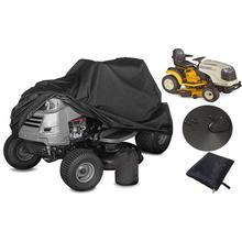 Чехол для газонокосилки садовый трактор 210D Универсальный Водонепроницаемый сверхмощный УФ-защита черный