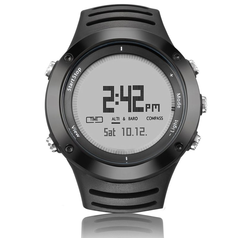 Spower 808-b Outdoor Sports Mountaineering Watch Multi Function High Pressure Compass Altitude Luminous Watch